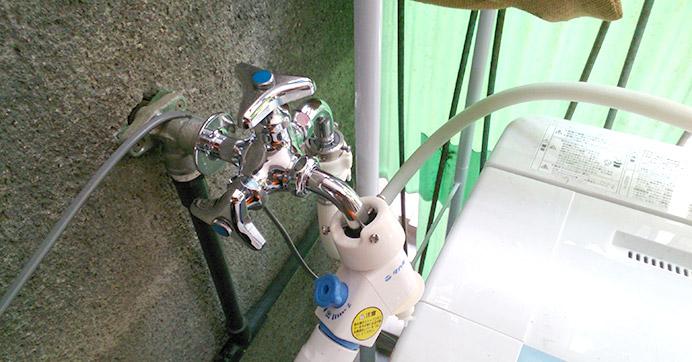 豊中市庄内 洗濯場蛇口 水漏れ修理