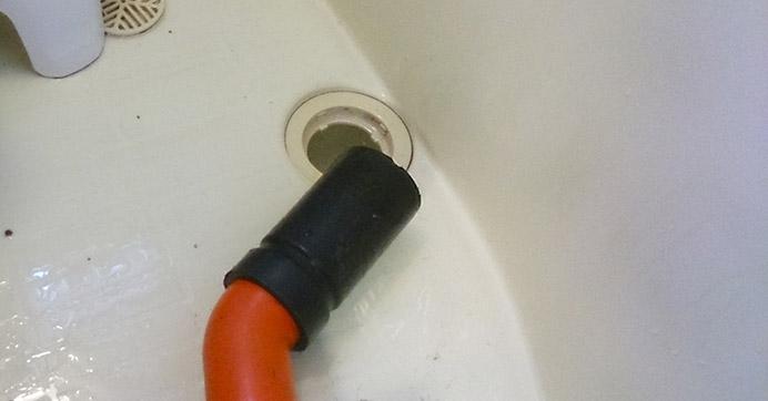 高槻市東和町 マンション浴室のつまり