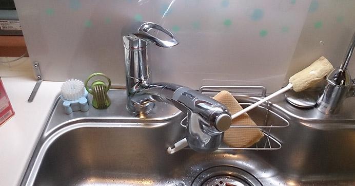 池田市天神 キッチンの蛇口水漏れ修理