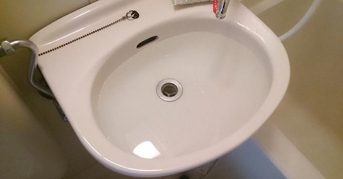 茨木市安威 洗面器のつまり