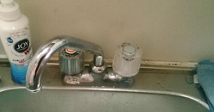 茨木市宇野辺 キッチン蛇口の水漏れ修理