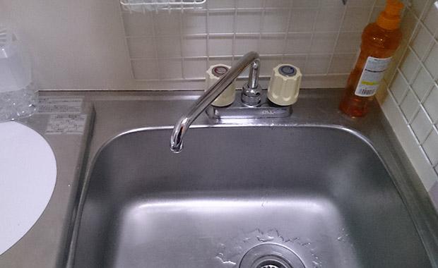 箕面市桜ケ丘 キッチンの水道修理