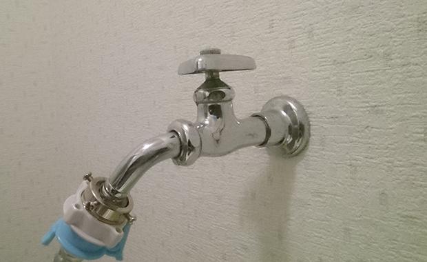大田区西蒲田 洗濯用水栓のスパウト交換