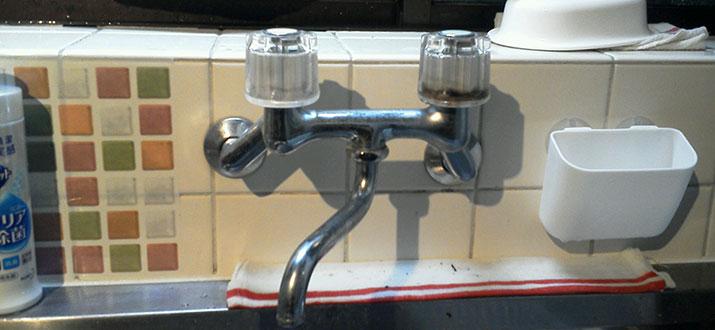 芝浦 台所水漏れによるパッキン交換