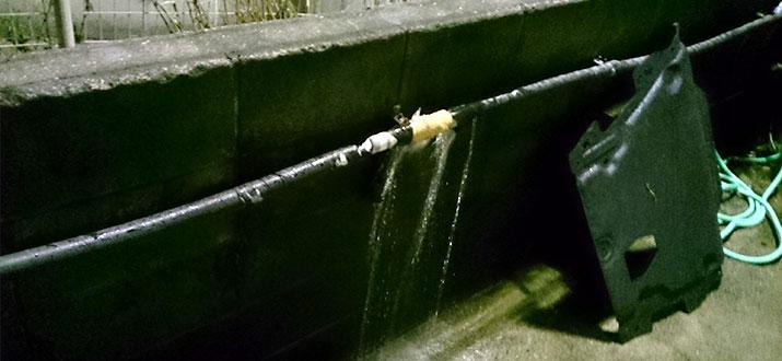 江東区亀戸 水道管の水漏れ修理