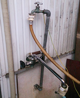 目黒区駒場 給水管の修理