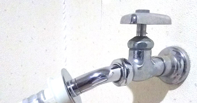 国立市泉 洗濯機蛇口から水漏れ