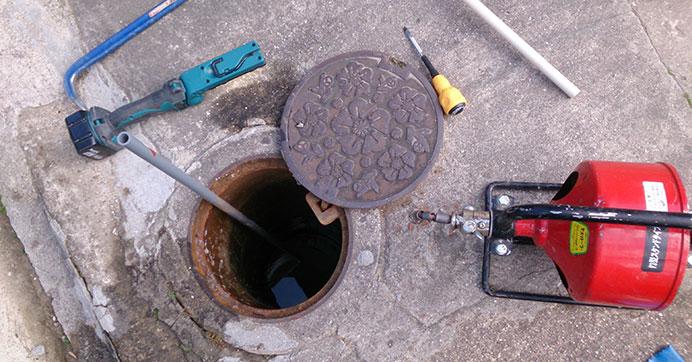 板橋区中板橋 排水管つまりの除去