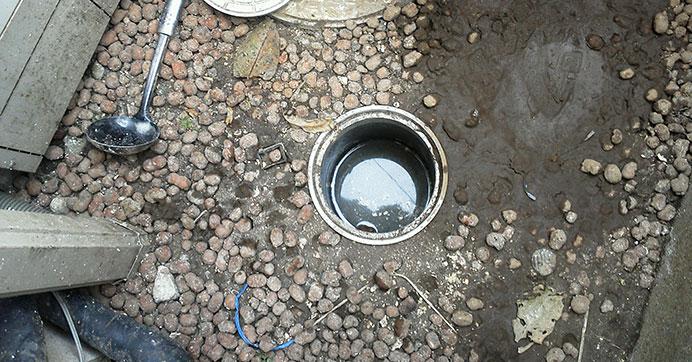 杉並区阿佐谷北 屋外排水マスのつまり除去