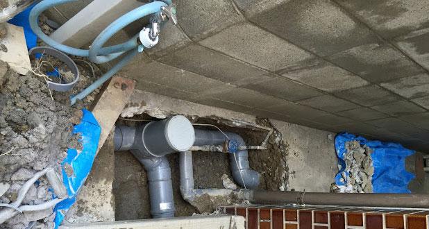 大阪市旭区 下水のつまり除去工事