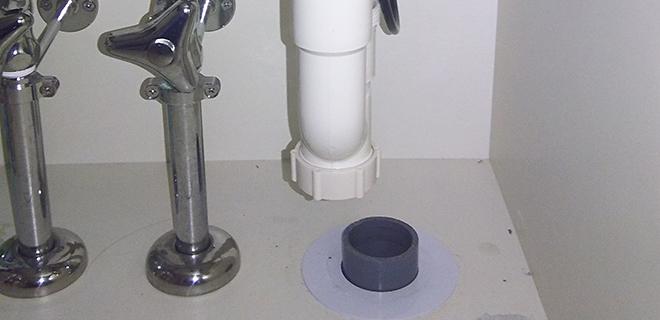 伊丹市 洗面所の水漏れ修理