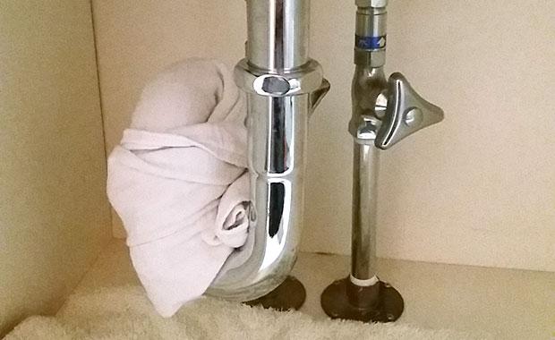 天王寺 マンション洗面所の水漏れ修理