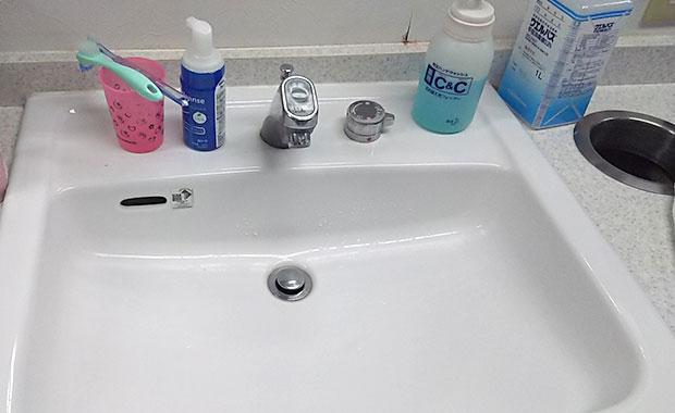 芦屋市 洗面所の蛇口から水が出ない