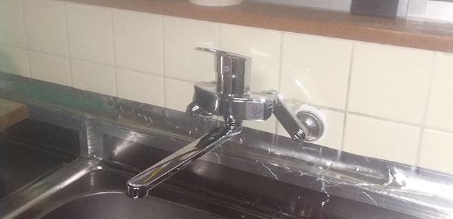 西宮市 キッチン蛇口の水漏れ修理